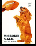1957 10/11 Missouri vs SMU  football Program