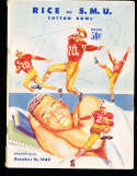 1949 10/15 SMU vs Rice  football Program