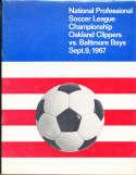 1967 9/9 Oakland Clippers vs Baltimore Bays Championship Soccer Program