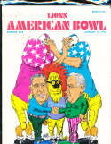 1971 1/10 Lions American Bowl South vs North  football Program