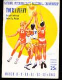 1943 NIBC Championship Basketball Program Southeast missouri state