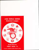 1968 World Series American League Detroit Tigers Media Guide