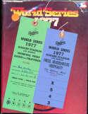 1977 World Series Program & press passes & media packet