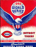 1940 World Series Cincinnati Reds vs Detroit Tigers Program
