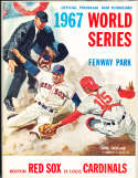 1967 World Series Boston Red Sox (hm)vs st. Louis Cardinals Program nm