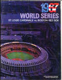 1967 World Series Cardinals (hm) vs Boston Red Sox Program