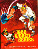 1966 World Series Los Angeles Dodgers vs Baltimore Orioles Program nm