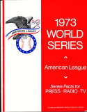 1973 World Series Oakland Athletics American League Press Guide nm