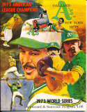 1973 World Series New York Mets vs Oakland Athletics (hm) Program nm