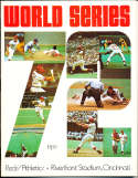 1972 World Series Cincinnati Reds (hm) vs Athletics Program nm