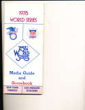 1978 World Series New York Yankees vs Los Angeles Dodgers Media Guide