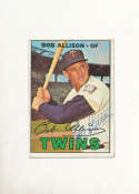 bob Allison #194 Twins Signed 1967 topps card