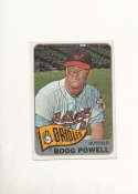 Boog Powell Orioles #560 Signed 1965 topps card