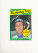 Don Kessigner Cubs all star 422 Signed 1969 topps card