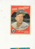 Enos slaughter Yankees  #155 Signed 1959 topps card