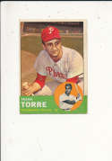 Frank Torre Phillies 161 Signed 1963 topps card
