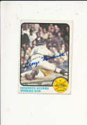 George Hendrick oakland a's #201 Signed 1973 topps card