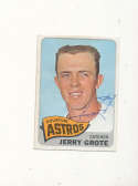 Jerry Grote Astros #504 Signed 1965 topps card