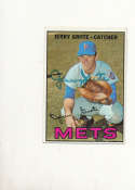 Jerry Grote Mets #413 Signed 1967 topps card
