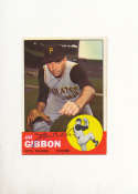 Joe Gibbon Pirates #101 Signed 1963 topps card