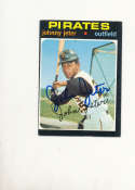 Johnny Jeter Pirates #47 Signed 1971 topps card