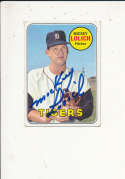 Mickey Lolich Tigers 270 Signed 1969 topps card
