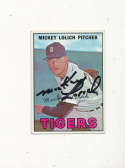 Mickey Lolich tigers 88  Signed 1967 topps card