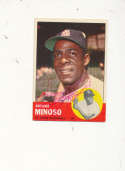 Minnie Minoso Cardinals 190 Signed 1963 topps card