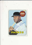 Ollie Brown Padres 149 Signed 1969 topps card