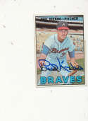 Phil Niekro Braves #456 Signed 1967 topps card