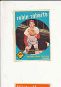 Robin roberts Phillies #352 Signed 1959 topps card