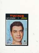 Sal Campisi Twins #568 Signed 1971 topps card