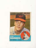 Steve Barber Orioles #12 Signed 1963 topps card