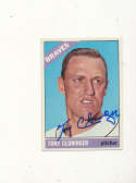 Tony Cloninger Braves #10 Signed 1966 Topps card