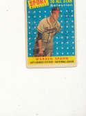 warren spahn 1958 all star Braves #494 Signed 1958 topps card
