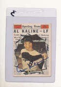 Al Kaline All Star #580 Tigers Signed 1961 Topps card