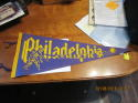 1940's Philadelphia Athletics   Full Pennant p6a pitcher & ball