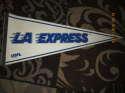 1982 LA Express USFL full Pennant white 2 bx 2