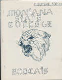 1953 Montana State College football Press Media Guide 8x10; 15 pages