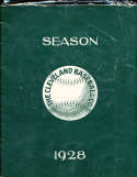 1928 4/18 Cleveland Indians opening program large format