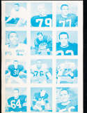 1964 pro football wheaties 12 card proof merlin olsen etc.