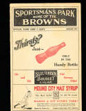 1927 Browns vs Yankees scored Babe Ruth & Lou Gehrig baseball program