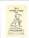 1956 Cleveland Indians vs New York Giants Spring Training Program Dallas scored