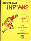 1969 Cleveland Indians vs Oakland A's Spring Training program em unscored