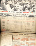 1958 Philadelphia Phillies spring training roster &  schedule