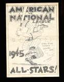 1945 All Stars  American vs National League Baseball Program scored