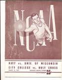 3/22 1947 NCAA basketball championship program east semi final holy cross