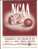 3/20 1947 NCAA basketball championship program first round