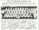 1961 pittsburgh Pirates Team Picture b&W 8x10 clemente