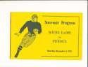 1920 11/6 Notre Dame vs Purdue football program (reprint)